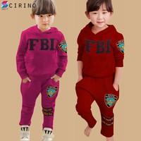 Bộ Đồ FBI Dài Tay Kute Ấm Áp Cho Bé - Hồng - CIRINO