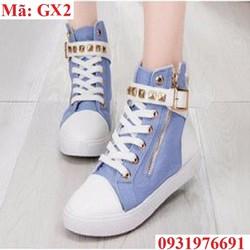 Giày sneaker jean cao cổ Hàn Quốc - GX2