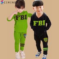Bộ Đồ FBI Dài Tay Kute Ấm Áp Cho Bé - Đen - CIRINO