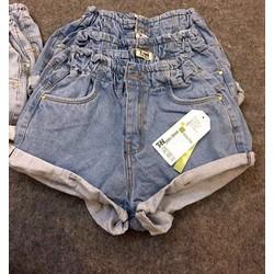 Quần short jeans xăn lai