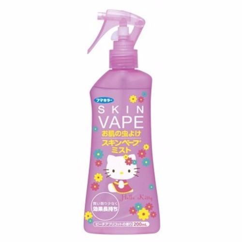 Xịt chống muỗi và côn trùng đốt Skin Vape Hello Kitty ,hương hoa đào