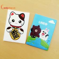 Bao đựng hộ chiếu - passport cover 3D PP10 candyshop88.vn