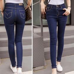 Quần jeans xớ gỗ viền chỉ nổi cao cấp