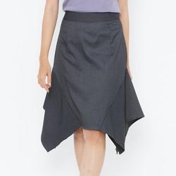 Chân váy ruffle COCO SIN màu xám