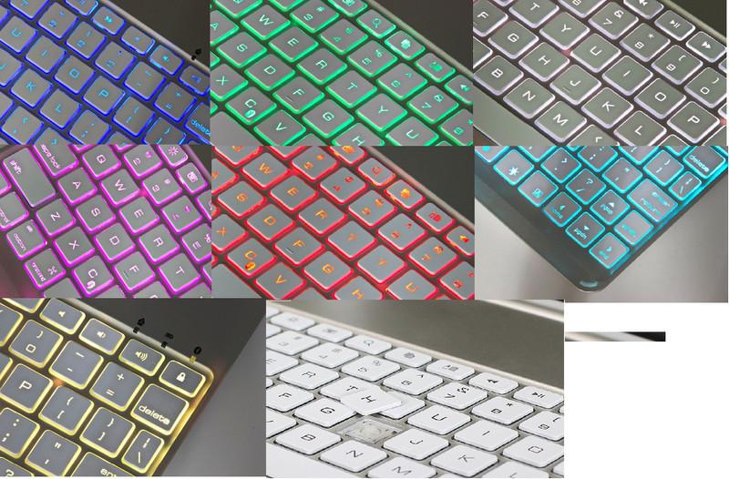 Bàn phím Bluetooth iPad Air Pro 9.7 pin sạc keyboard tích hợp LED 10