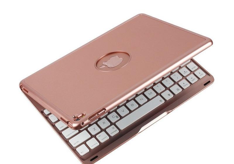 Bàn phím ốp lưng iPad Pro 9.7 vàng hồng Bluetooth 11