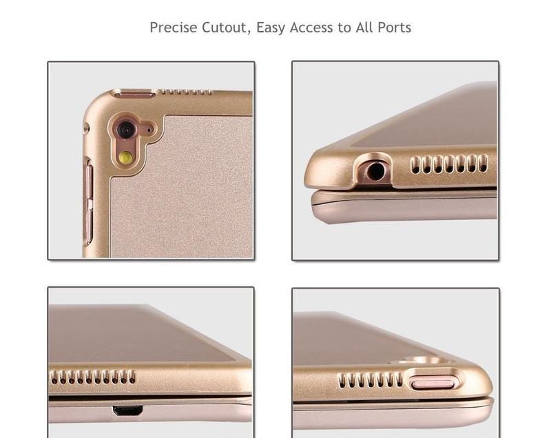 Bàn phím ốp lưng iPad Pro 9.7 vàng hồng Bluetooth 10