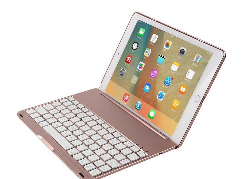 Bàn phím ốp lưng iPad Pro 9.7 vàng hồng Bluetooth 6