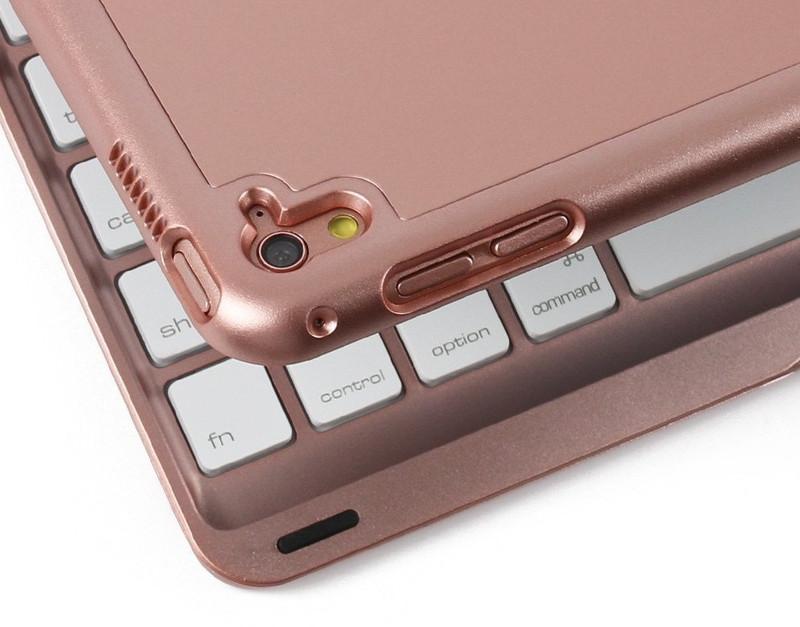 Bàn phím ốp lưng iPad Pro 9.7 vàng hồng Bluetooth 9