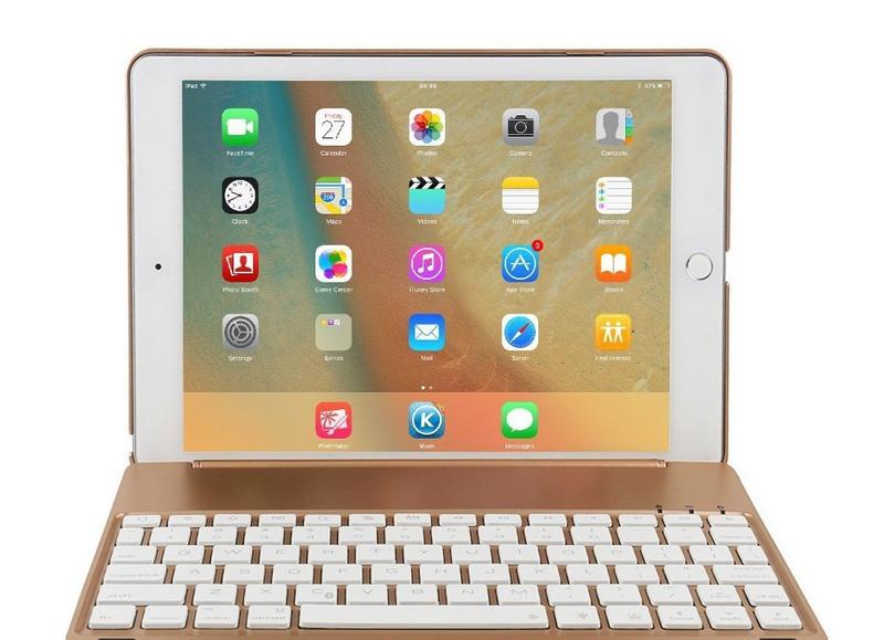 Bàn phím ốp lưng iPad Pro 9.7 vàng hồng Bluetooth 5