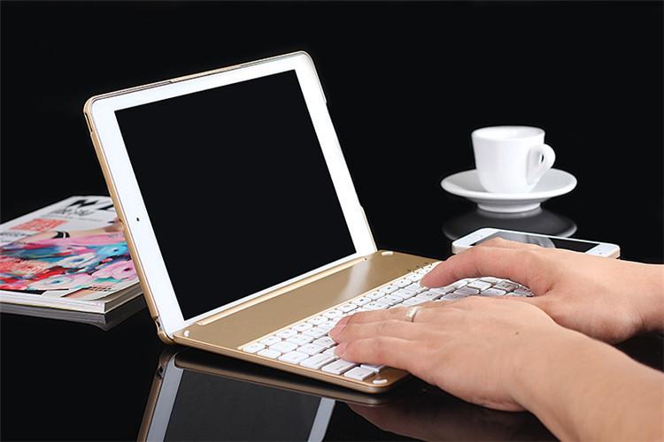 Bàn phím ốp lưng iPad Pro 9.7 vàng hồng Bluetooth 14