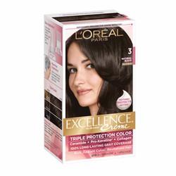 Thuốc nhuộm tóc LOréal Excellence Creme, 3 Natural Black