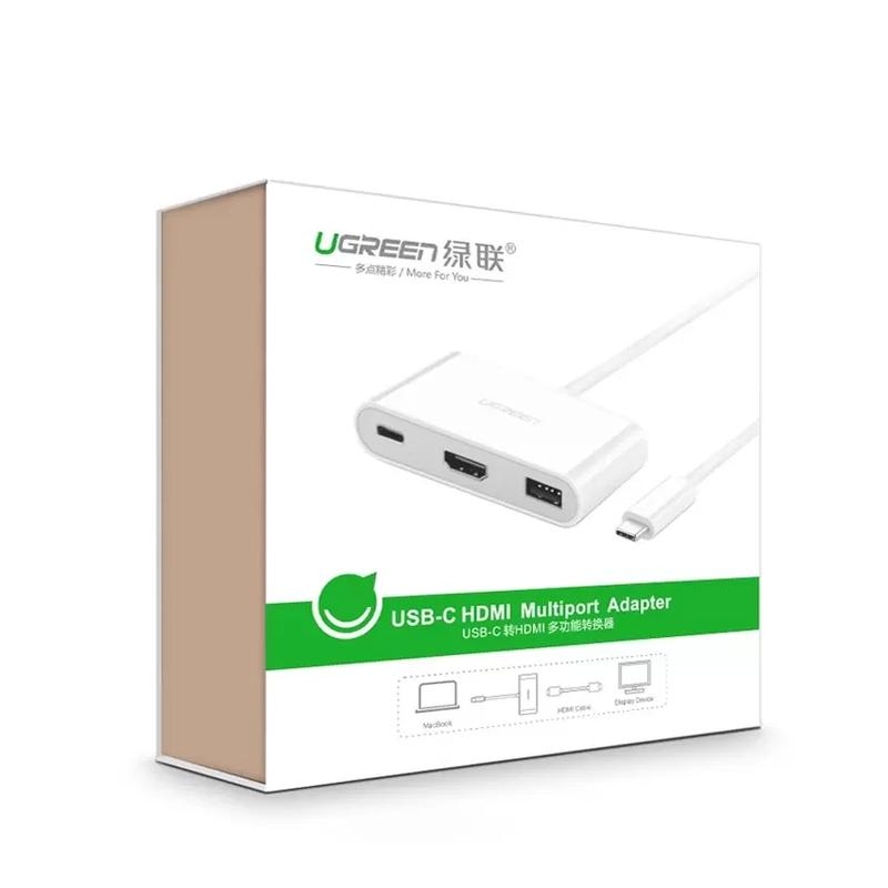 Cáp chuyển USB Type C sang HDMI + USB 3.0 Ugreen 30377 cho Macbook 6