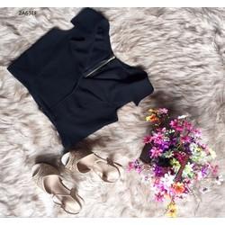 A2778095 - Áo croptop cổ vest quyến rũ