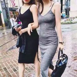 Đầm len ôm 2 dây
