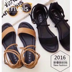 Giày sandal quai ngang chéo dây