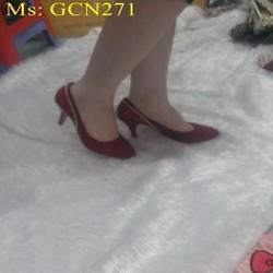 Giày cao gót nữ công sở chất liệu nhung mềm đẹp GCN271