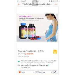 thuốc bổ tổng hợp prenatal +dha của nature made
