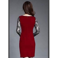 Big Sale - Đầm Suông Phối Tay Ren