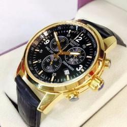 đồng hồ kim dây da thật máy made in japan mã JP04