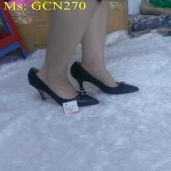 Giày cao gót nữ đính nơ xinh đẹp hàng xuất khẩu GCN270