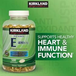 Vitamin E 400 IU 500 viên Kirkland của Mỹ - Đẹp da, làm chậm lão hóa