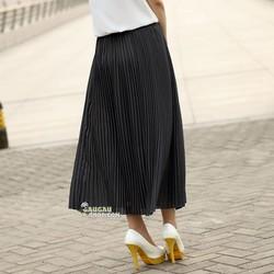 Chân váy dài xếp ly cổ điển
