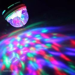 Đèn Led Cầu Xoay Nhiều Màu Hiệu Ứng