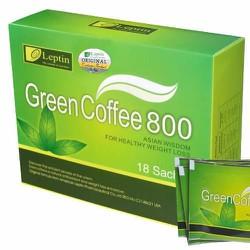 Cafe giảm cân green coffee 800 leptine