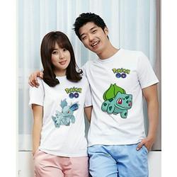 Áo Thun Cặp Tình Yêu Pokemon mẫu Hot