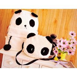 Ba lô vải bố kèm túi con đeo chéo Panda - Giá Cực Sốc