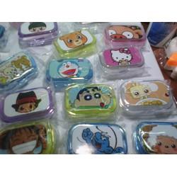 Khay Lens Hoạt Hình Kitty,Doraemon,One Piece,Rillakuma,Cừu VV
