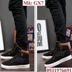 Giày thể thao nam cao cổ phong cách Hàn Quốc - GX7