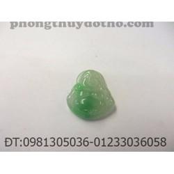 Mặt dây chuyền Phật di lặc đá cẩm thạch xanh 2x2cm