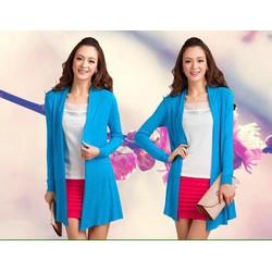 Áo khoác len mỏng form dài