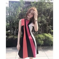 Đầm color block siêu xinh
