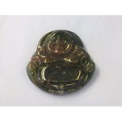 Mặt dây chuyền - Phật Di lặc đá thạch anh xanh 5 x 4,6 cm