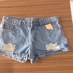 Quần Jeans short nữ Wash rách xinh xắn