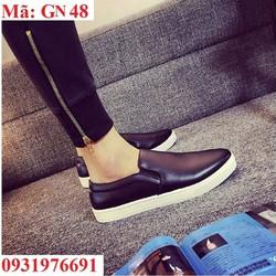 Giày lười nam chất liệu da form ý cao cấp - GN48