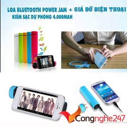 Sạc Dự Phòng Jam 3 in 1 Tích Hợp Loa Bluetooth Giá Đỡ Điện Thoại