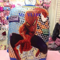 Va li kéo du lịch chất liệu nhựa cao cấp hình spider man VL189