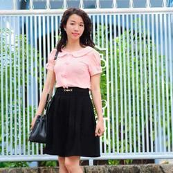 Chân váy xòe vintage xếp ly trẻ trung và năng động 7MC06