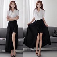 Đầm maxi áo voan mỏng liền váy dài xẻ gợi cảm,duyên dáng-D2713