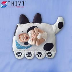 Nệm  Gối Doomagic cho bé hình chó đốm THIVI