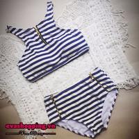 Set Bikini Sọc Ngang Cao Cấp Evabkn154
