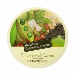 Kem tẩy trang Herb day Cleansing Cream 5 Combined Cereal The face shop