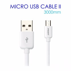 Cáp sạc micro USB Pisen dài 3m