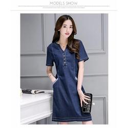 Đầm jean dáng xuông cực sành điệu