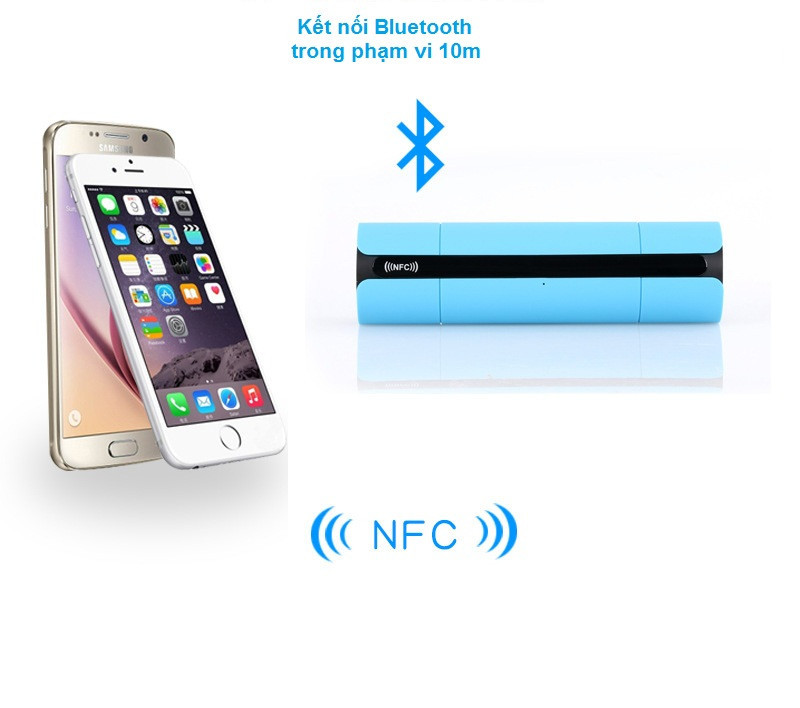 Loa nghe nhạc bletooth giá rẻ NFC gắn sim thẻ nhớ PKCB-8800 11