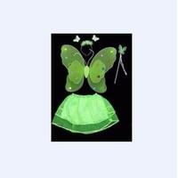 Áo cánh bướm thiên thần kèm gậy màu xanh lá